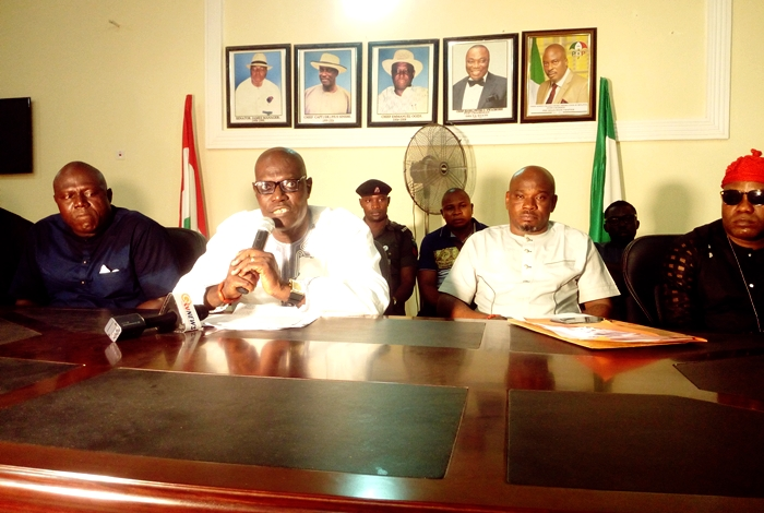 Delta State PDP Chairman Kingsley Esiso and Executives