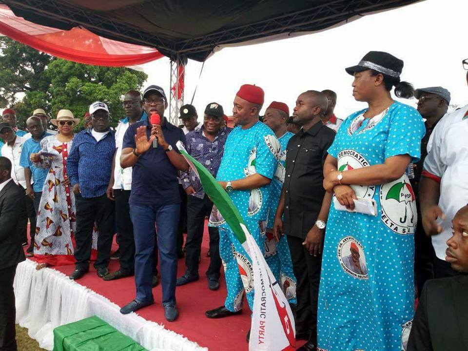 Okowa at PDP Local Government Campaign Rally
