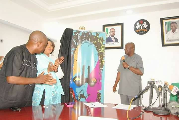 The unveiling of EDOFEST logo, in Edo State Government House, Benin City, on Monday, December 4, 2017