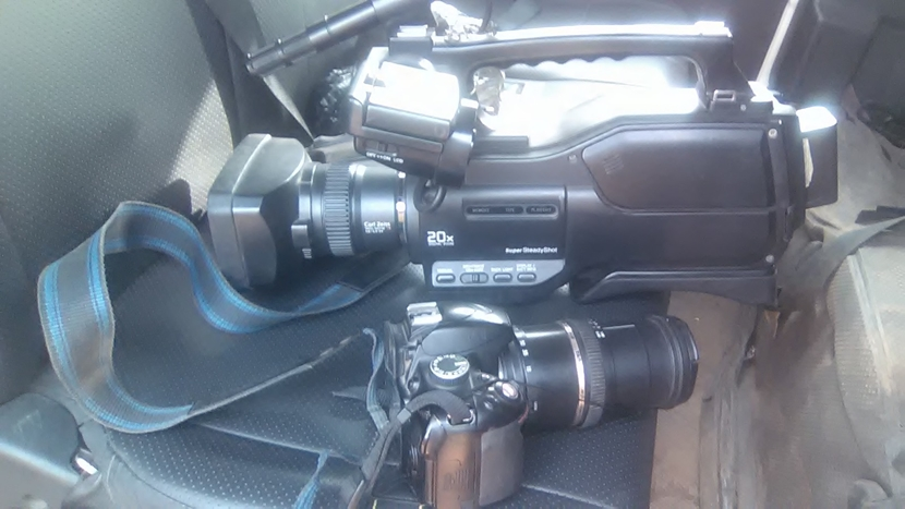 The Retrieved Cameras Seized by Governor Okowa's Aide From Journalists During Jan. 6 LGA Election in Delta State