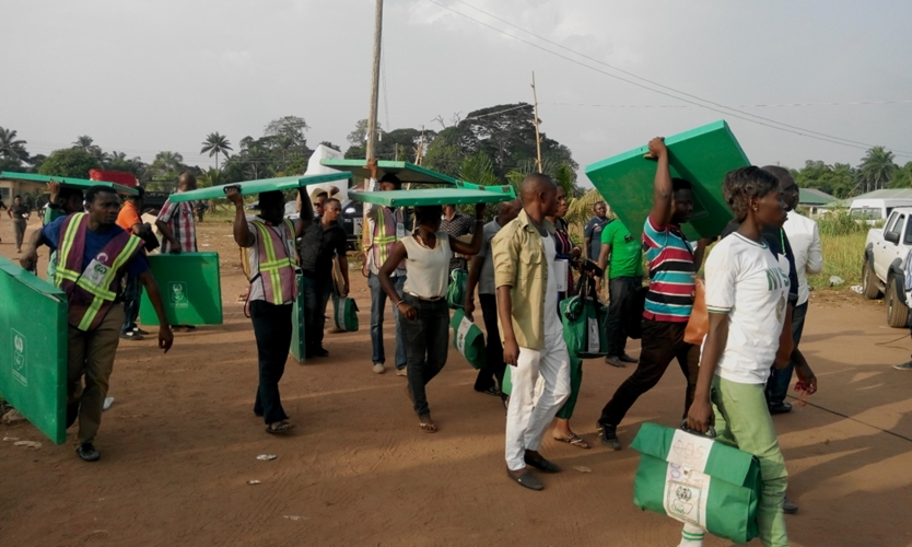 Nigeria Election Officials and Materials