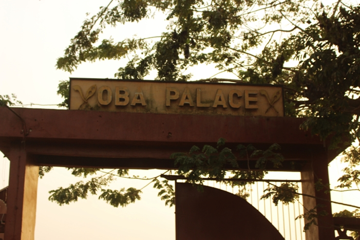 Entrance Gate to the Palace of the Oba of Benin Kingdom