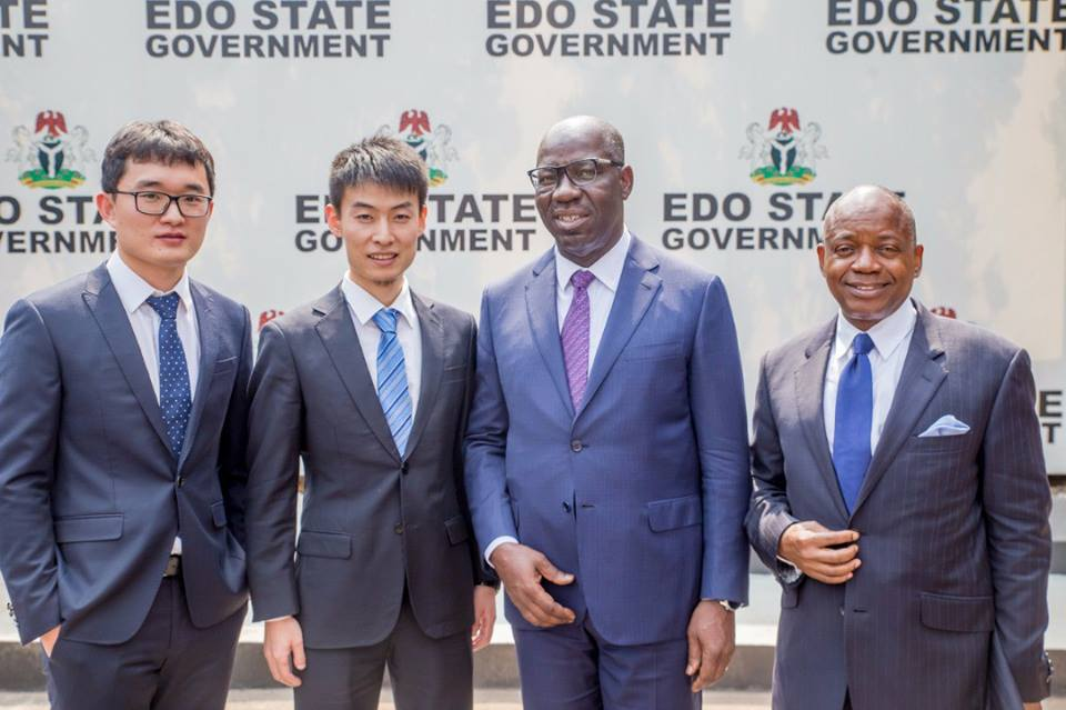 Obaseki and China Habour Engineering Company for Gelegele Seaport Project