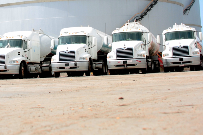 Petroleum Trucks at Fuel Depot
