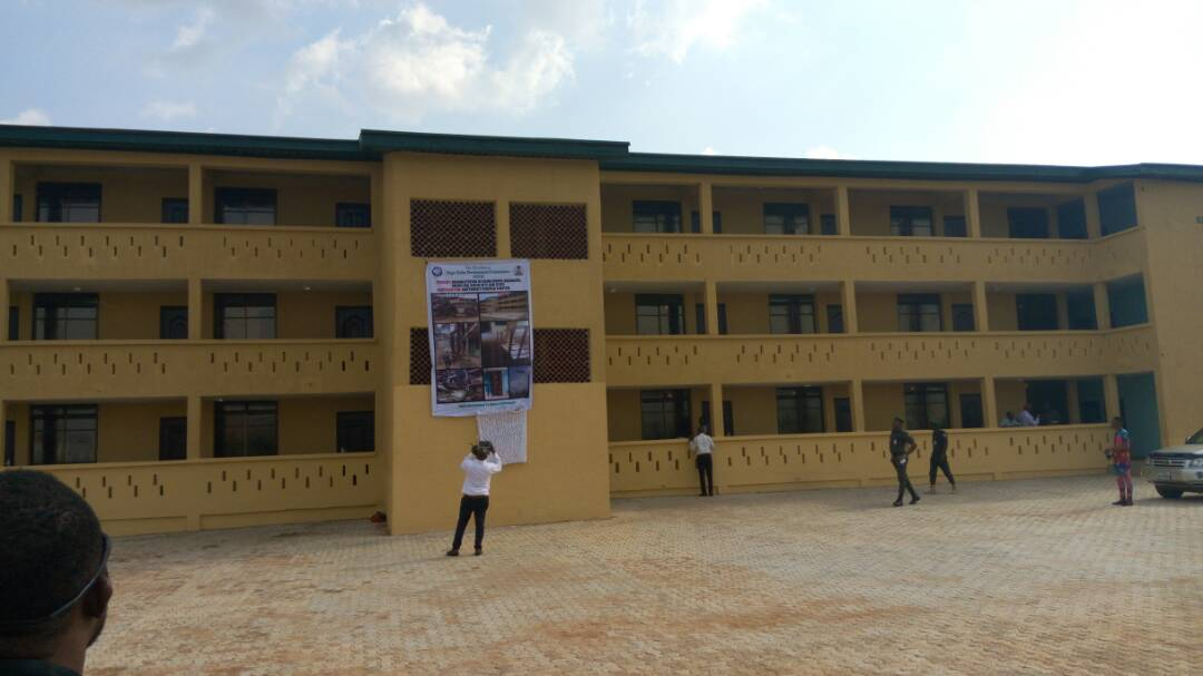 Two Storey Building at Number 5 Police Mobile Force Squadron Barracks renovated by NDDC