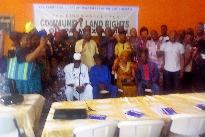 Stakeholders and Farmers at the Community Land Rights Workshop