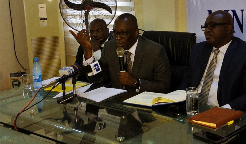 Attorney General of Delta State, Barr Peter Mrakpor Briefing the Press on the Achievements of the Ministry of Justice