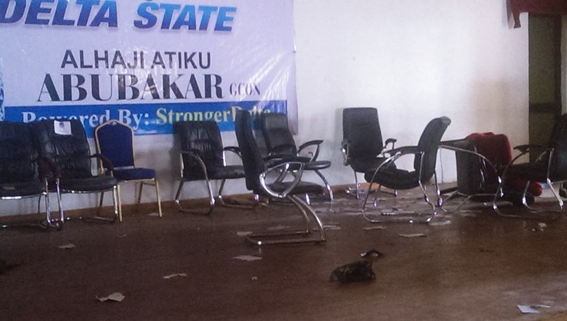 Scene of the Thuggery during Atiku's Visit to Delta State