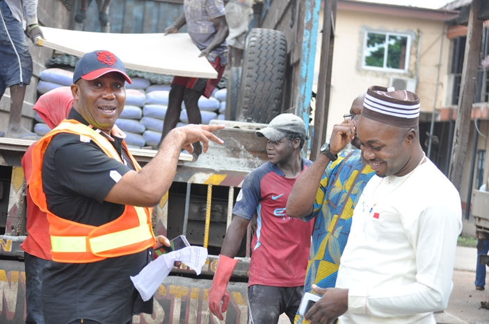 Edo State Emergency Management Agency presents Relief Materials to Flood Victims in the State