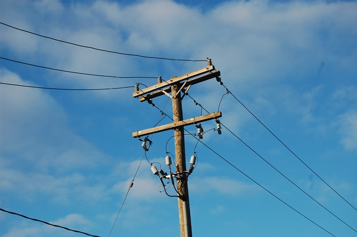 Electricity Pole and Wirings