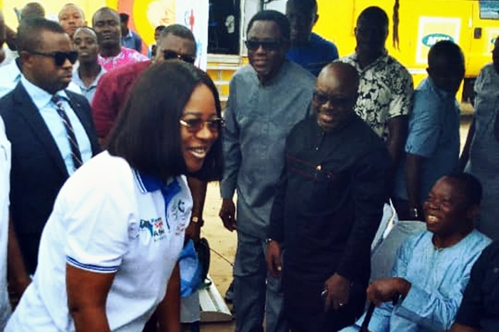 Mike Ogwah Welcoming Delta First Lady, Dame Edith Okowa to Isoko North
