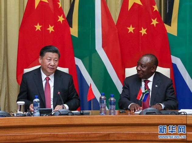 China and South Africa Presidents