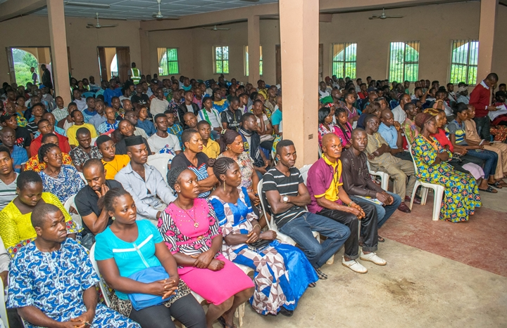 Cross-section of participants at an advocacy programme organised by the taskforce in Abudu, Orhionmwon Local Government Area, Edo State.