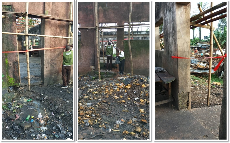 One of the unhygienic abattoirs shut by officials of the Edo State Government in Benin city, Edo State on Thursday, October 11, 2018