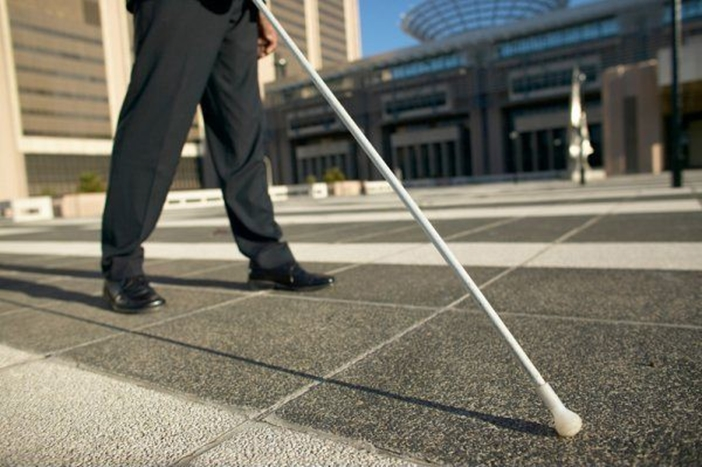 White Cane Used by The Blind for Safe Navigation