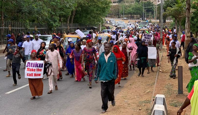 Two Million Woman Rally for Democracy in Nigeria Rally in Abuja