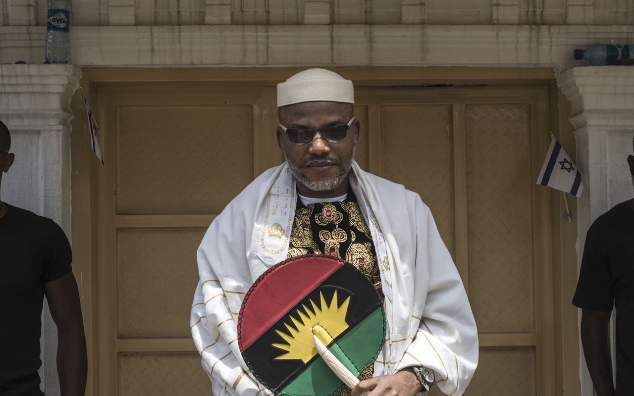Leader of the Indigenous Peoples of Biafra (IPOB) Mazi Nnamdi Kanu