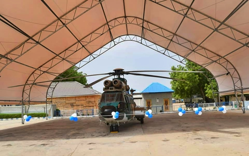 Newly Remodeled Nigerian Air Force Aircraft Shelters in Maiduguri