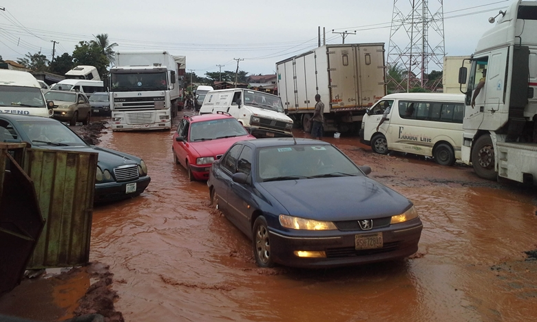 A Bad Portion of the Benin-Auchi Highway in Edo State
